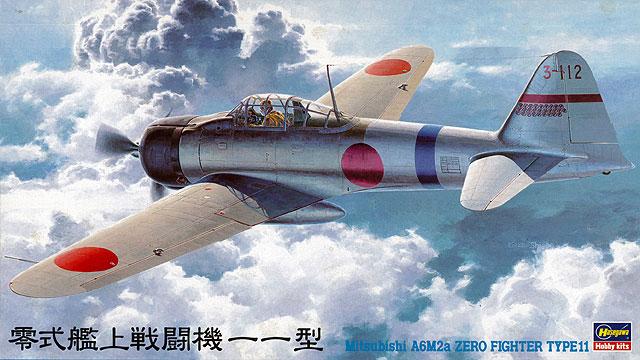 Hasegawa 1/48 Mitsubishi A6M2a Zero Fighter Type 11