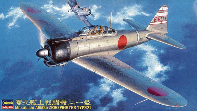 Hasegawa 1/48 Mitsubishi A6M2b Zero Fighter Type 21