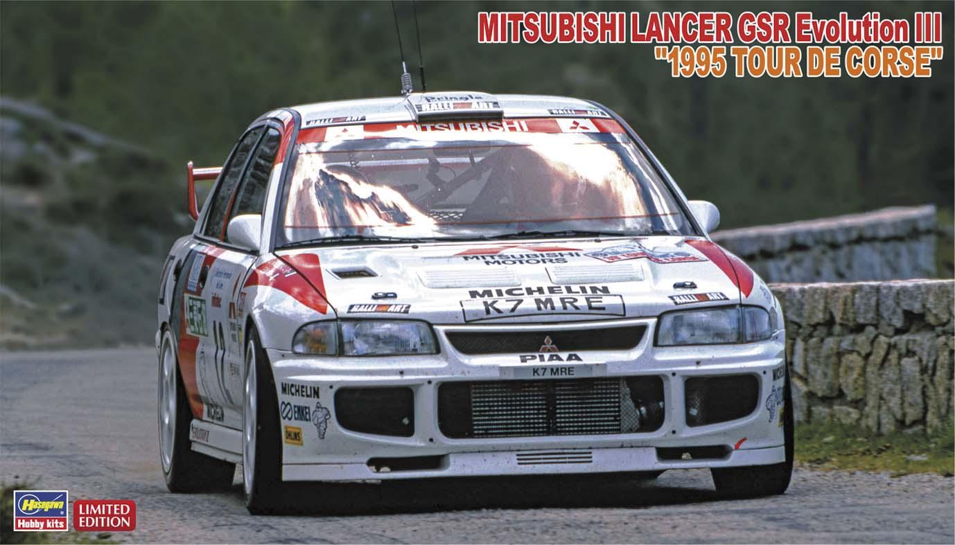 """Hasegawa 1/24 Mitsubishi Lancer GSR Evolution III """"1995 Tour De Corse"""""""
