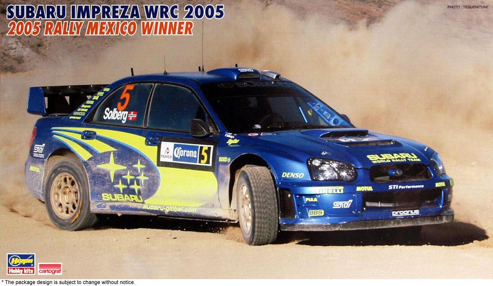 "Hasegawa 1/24 Subaru Impreza WRC 2005 ""2005 Rally Mexico Winner"""