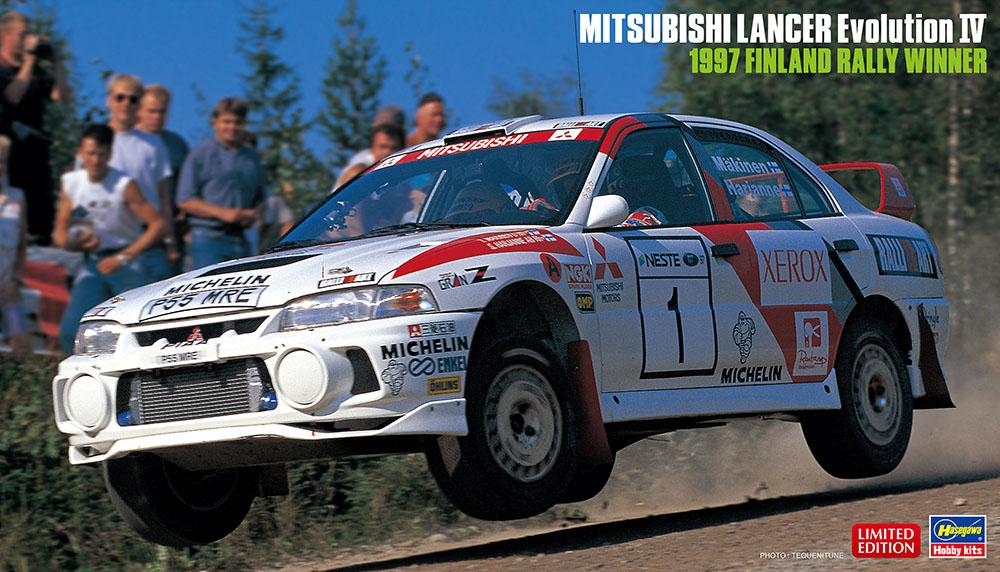 Hasegawa 1/24 Mitsubishi Lancer Evolution IV 1997 Finland Rally Winner