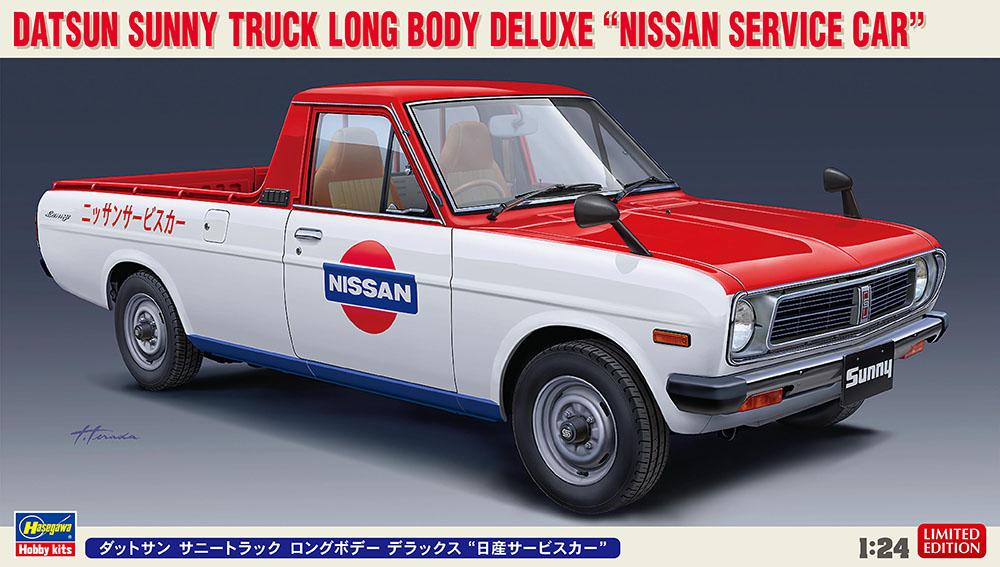 Hasegawa 1/24 Datsun Sunny Truck Long Body Deluxe Nissan Service Car