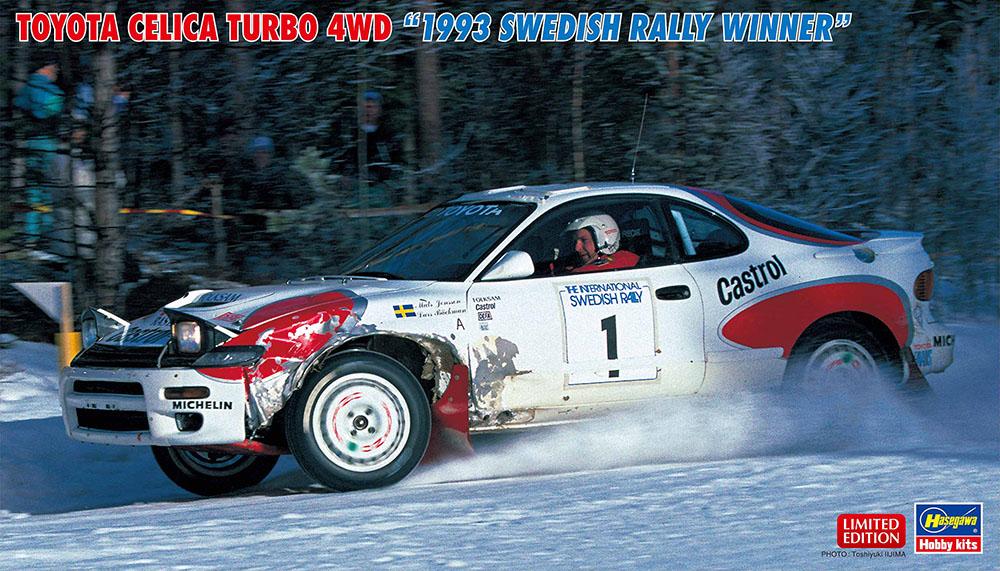 "Hasegawa 1/24 Toyota Celica Turbo 4WD ""1993 Swedish Rally Winner"" Limited Edition"