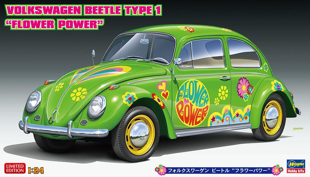 "Hasegawa 1/24 Volkswagen Beetle Type 1 ""Flower Power"""