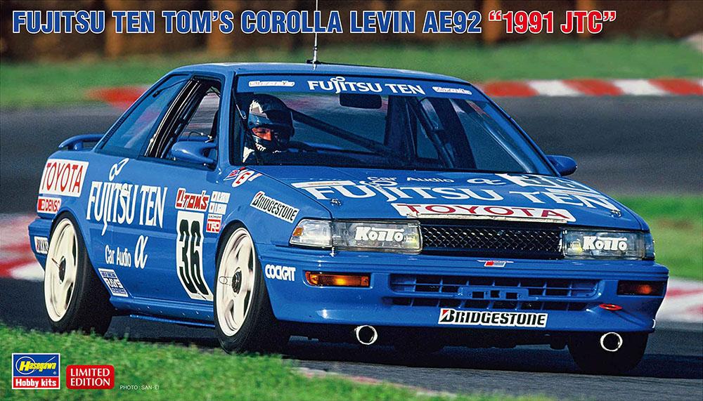 """Hasegawa 1/24 Fujitsu Ten Tom's Corolla Levin AE92 """"1991 JTC"""""""