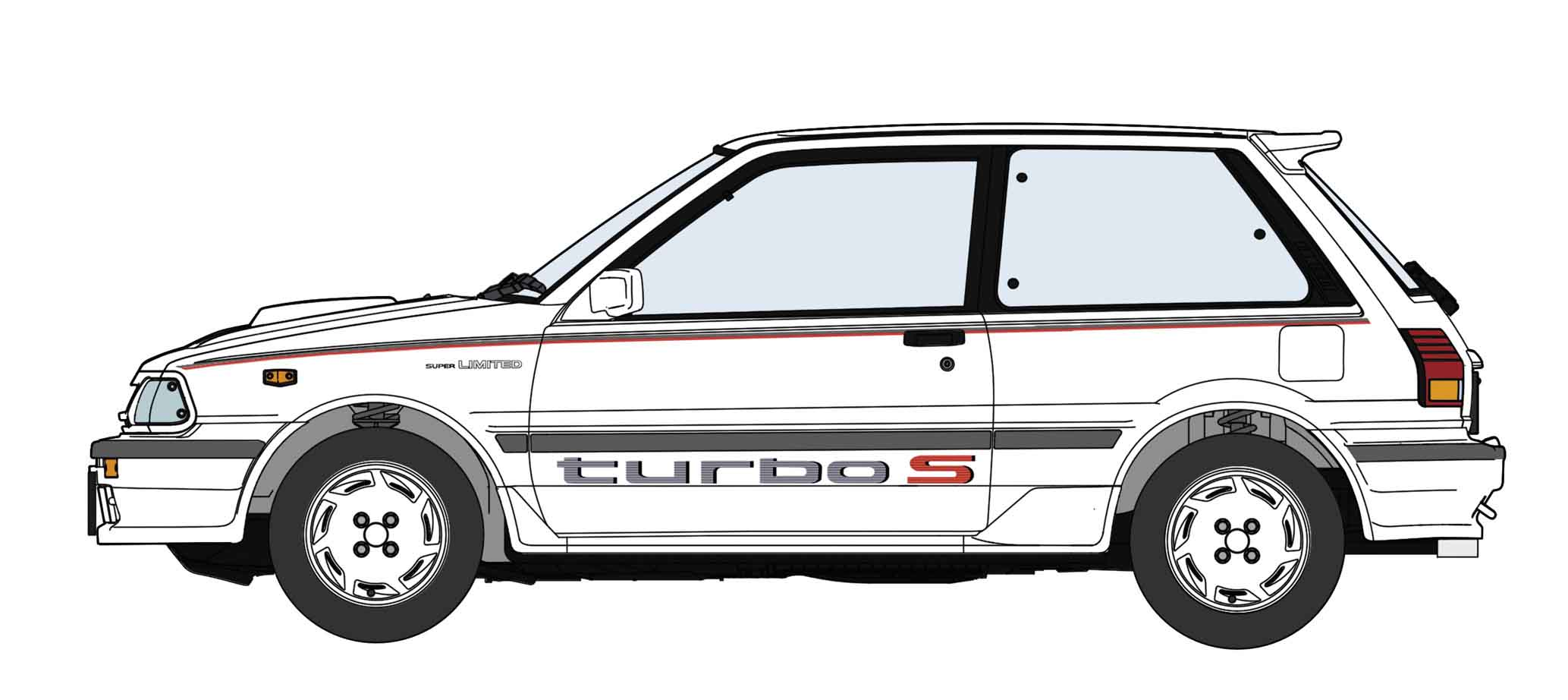 Hasegawa 1/24 Toyota Starlet EP71 Turbo-S (3 Door) Middle Version Super-Limited