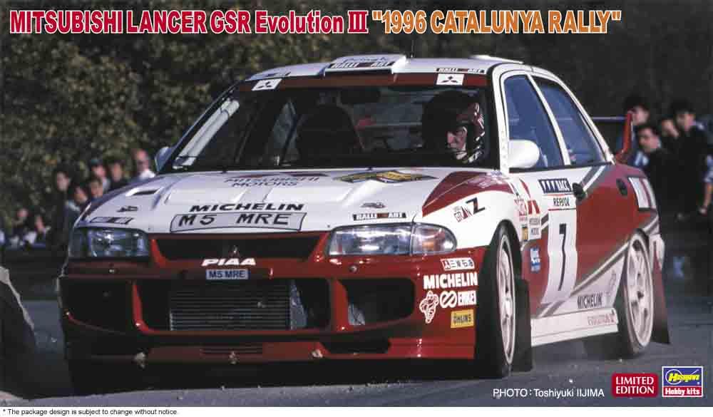 Hasegawa 1/24 Mitsubishi Lancer GSR Evolution III 1996 Catalunya Rally