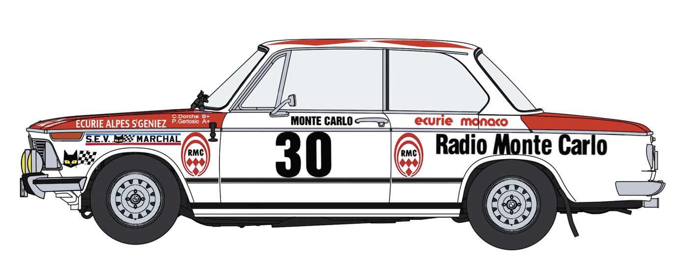 """Hasegawa 1/24 Bmw 2002 Tii """"1975 Monte-Carlo Rally"""""""