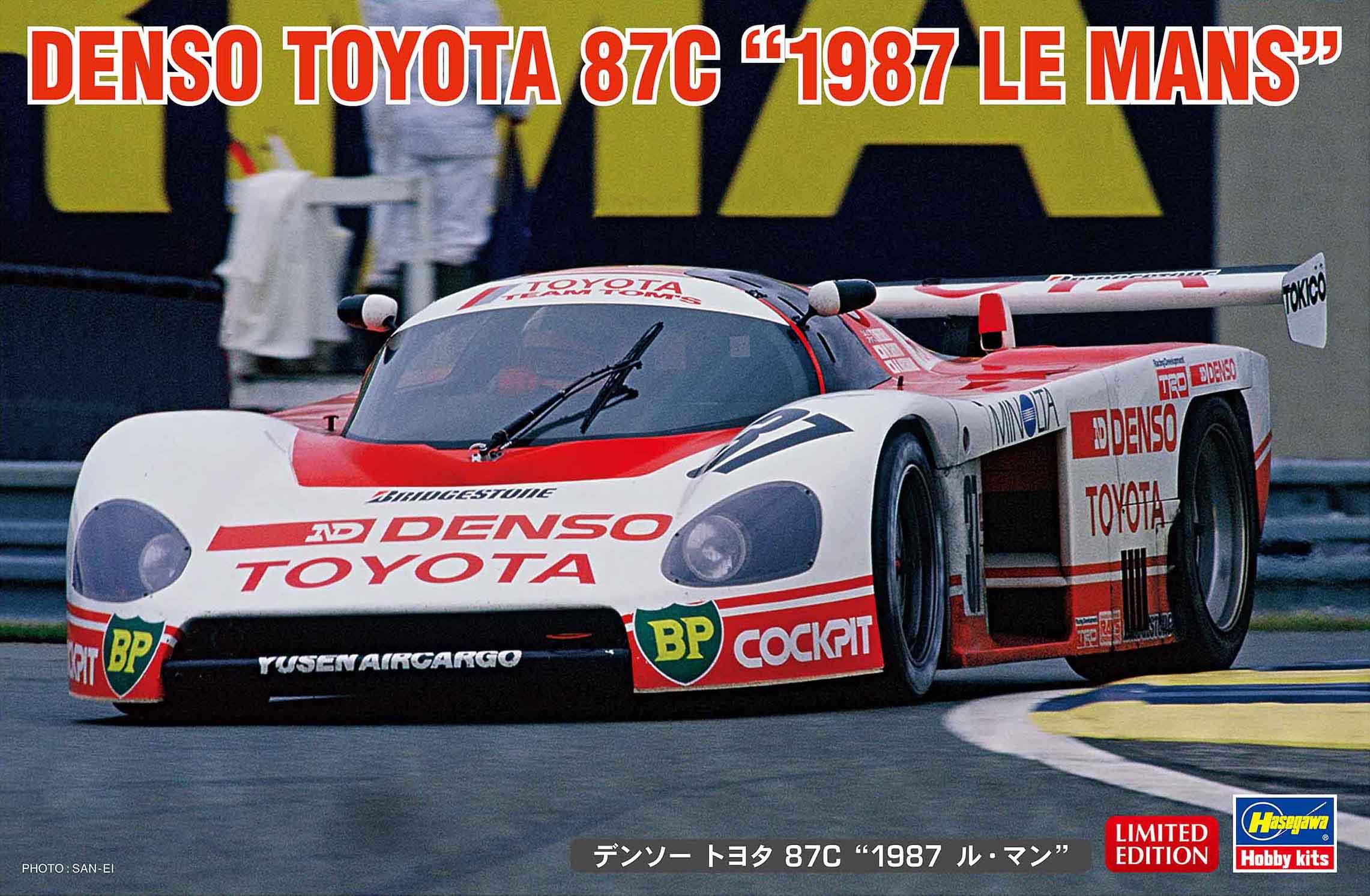 "Hasegawa 1/24 Denso Toyota 87C ""1987 Le Mans"""