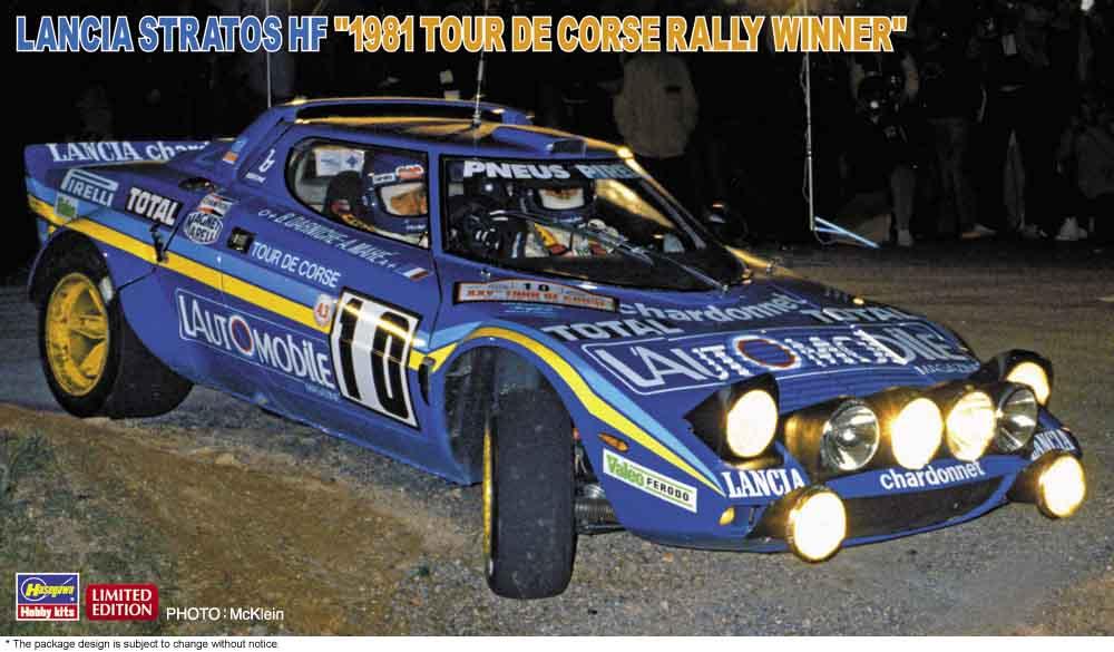 "Hasegawa 1/24 Lancia Stratos HF ""1981 Tour De Corse Rally Winner"""