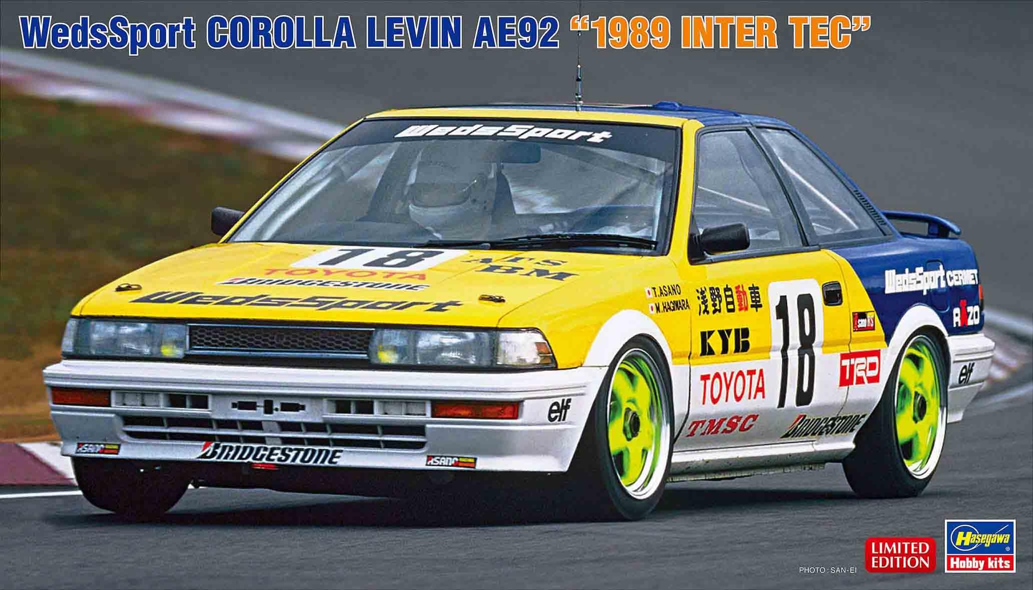 "Hasegawa 1/24 Wedssport Corolla Levin AE92 ""1989 Inter Tec"""