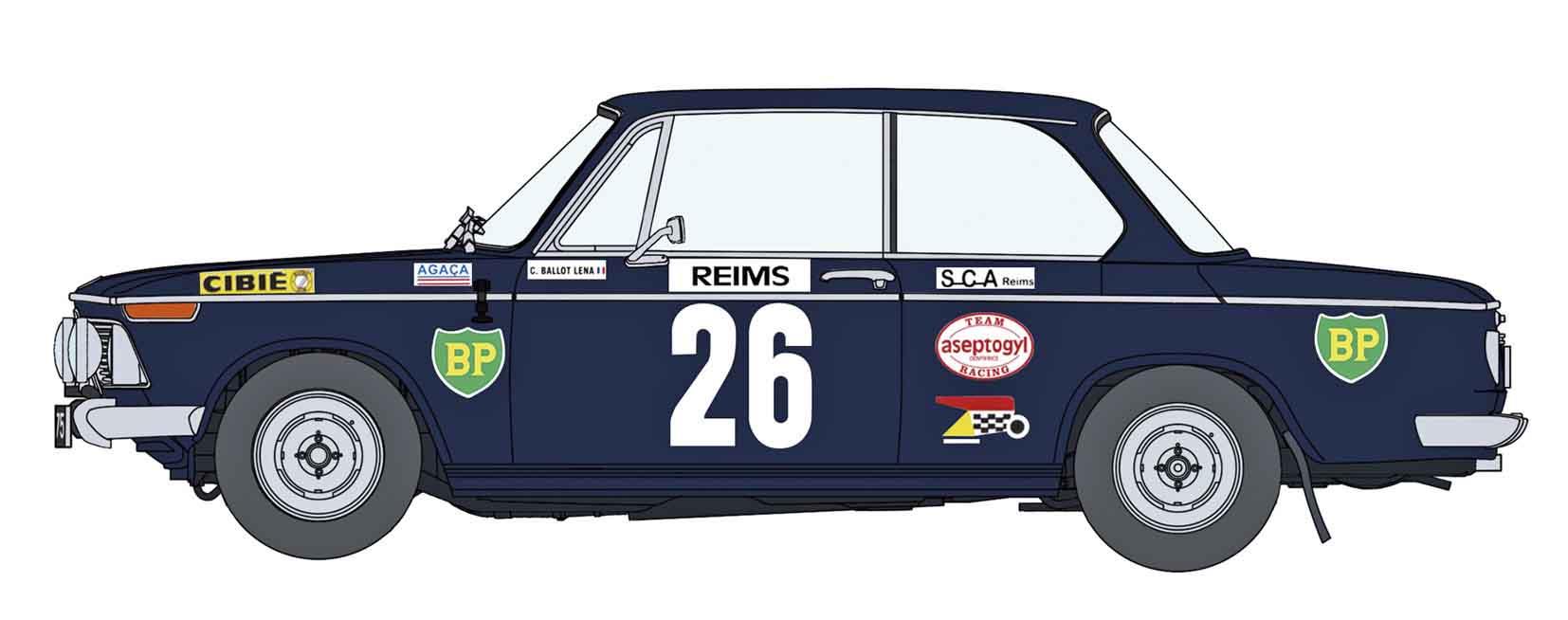 """Hasegawa 1/24 BMW 2002 TI """"1971 Monte-Carlo Rally"""""""