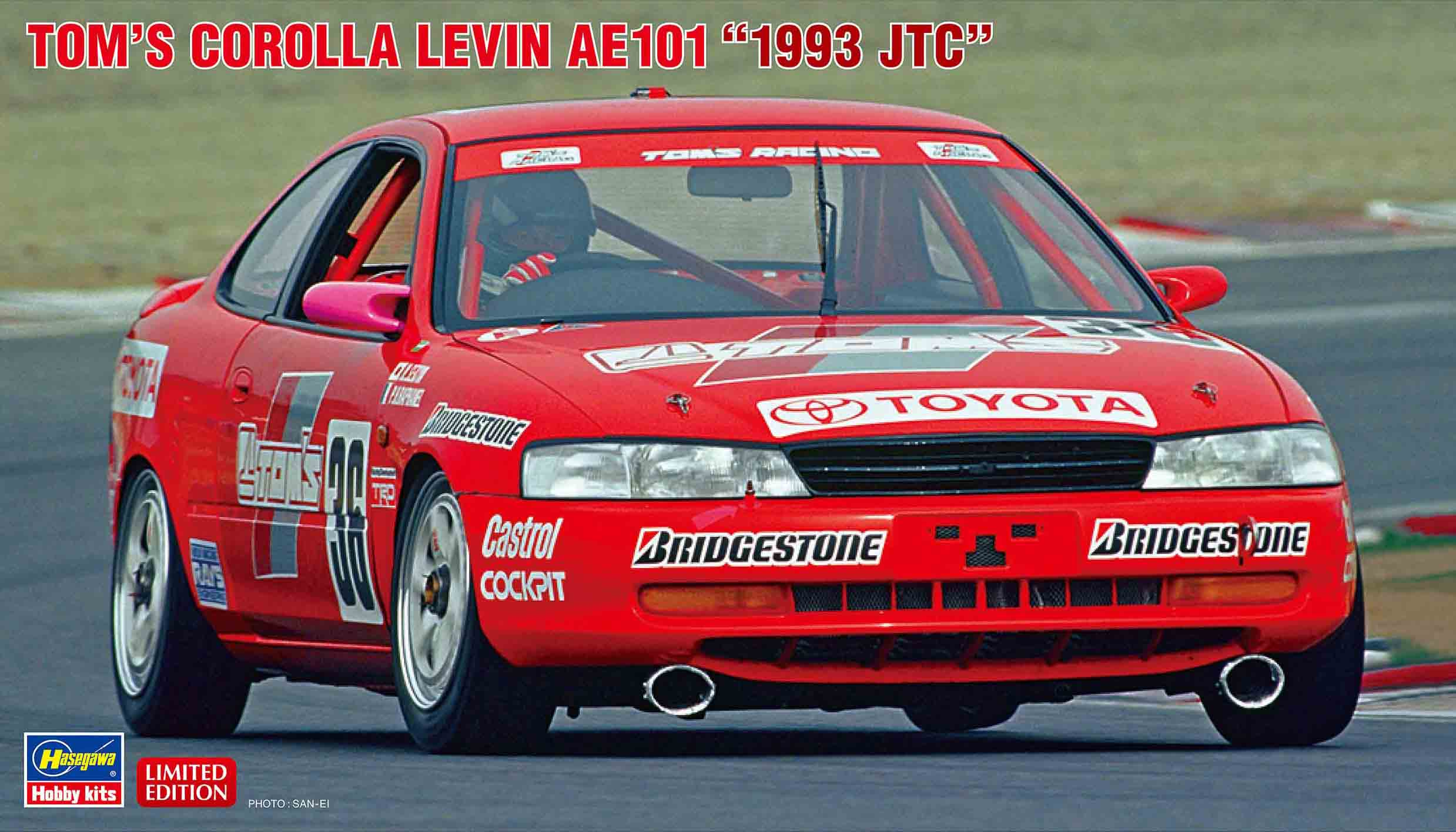 "Hasegawa 1/24 Tom's Corolla Levin AE101 ""1993 JTC"""