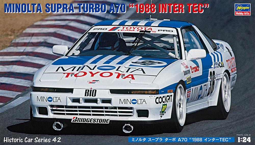 "Hasegawa 1/24 Minolta Toyota Supra Turbo A70 ""1988 InterTEC??"