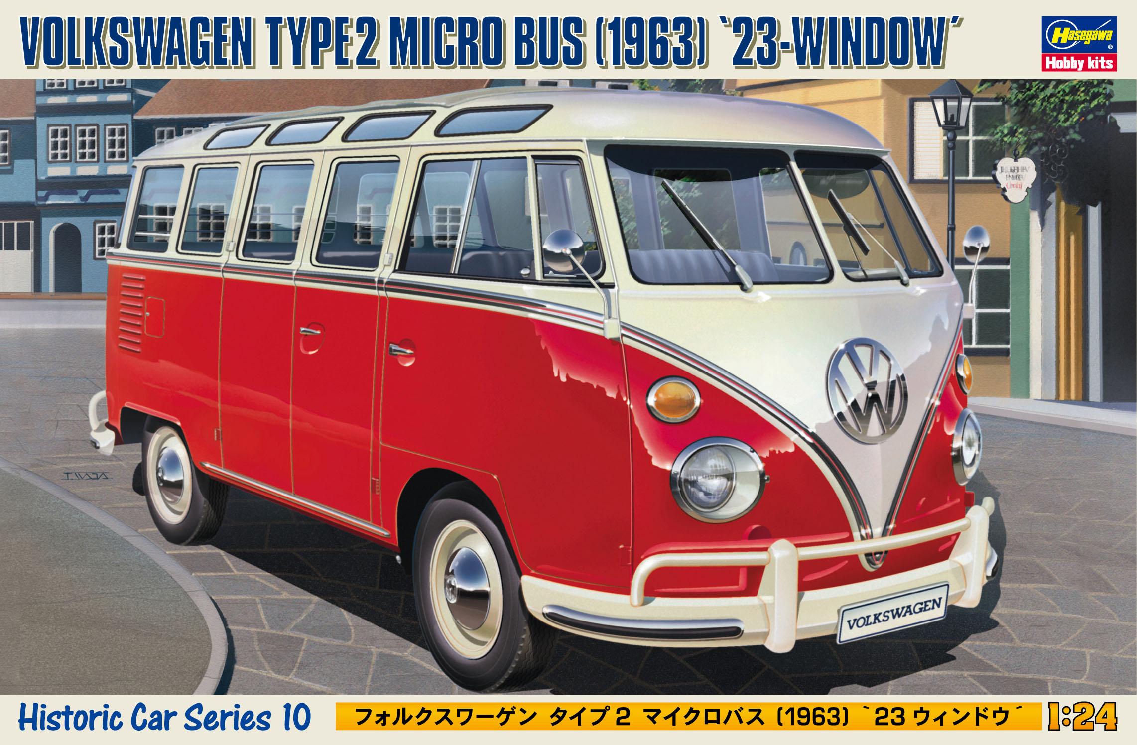 """Hasegawa Volkswagen Type 2 Micro Bus """"1963"""" 23-Window HC10"""