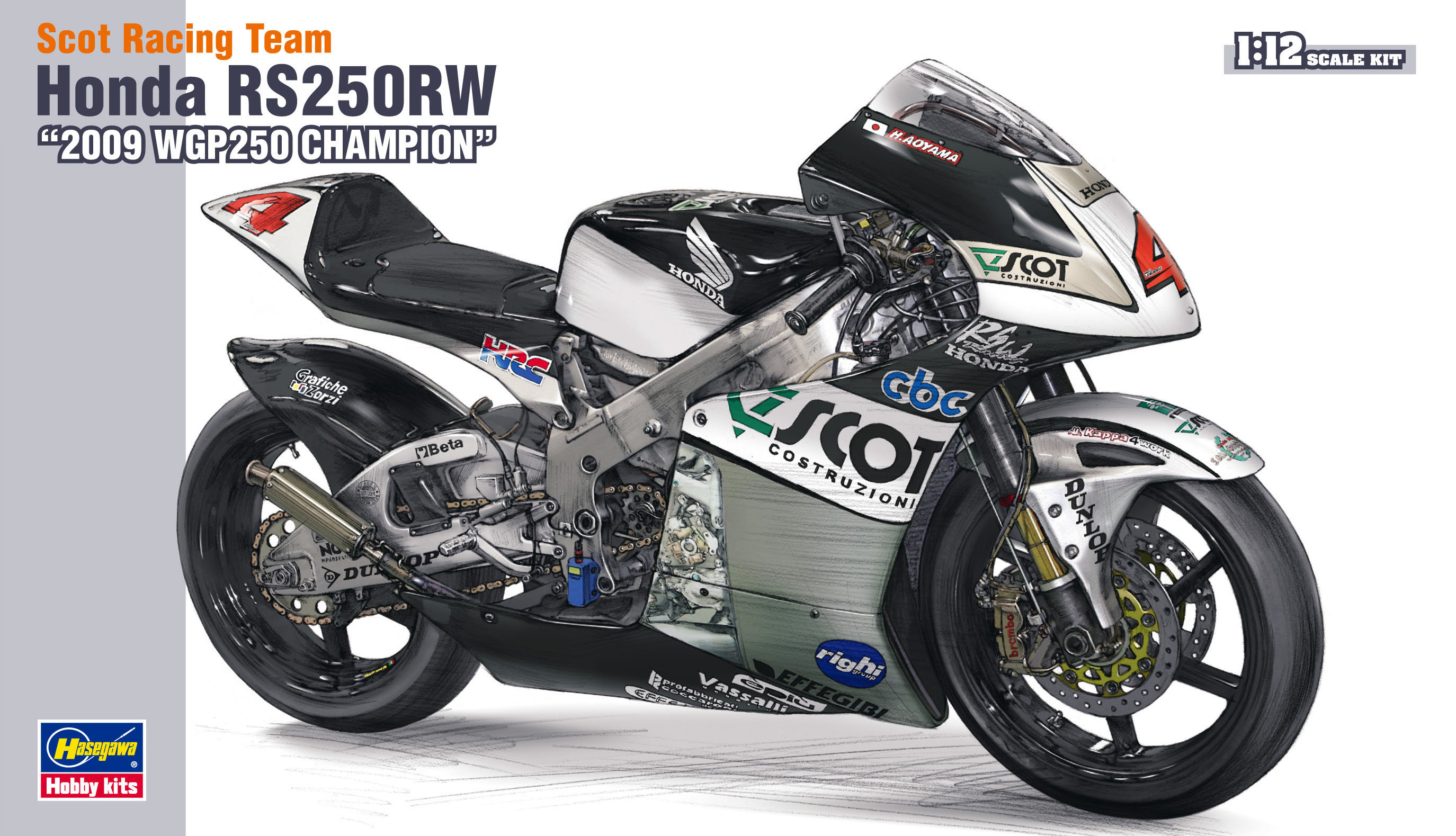 "Hasegawa 1/12 Scot Racing Team Honda Rs250Rw ""2009 Wgp250 Champion"""