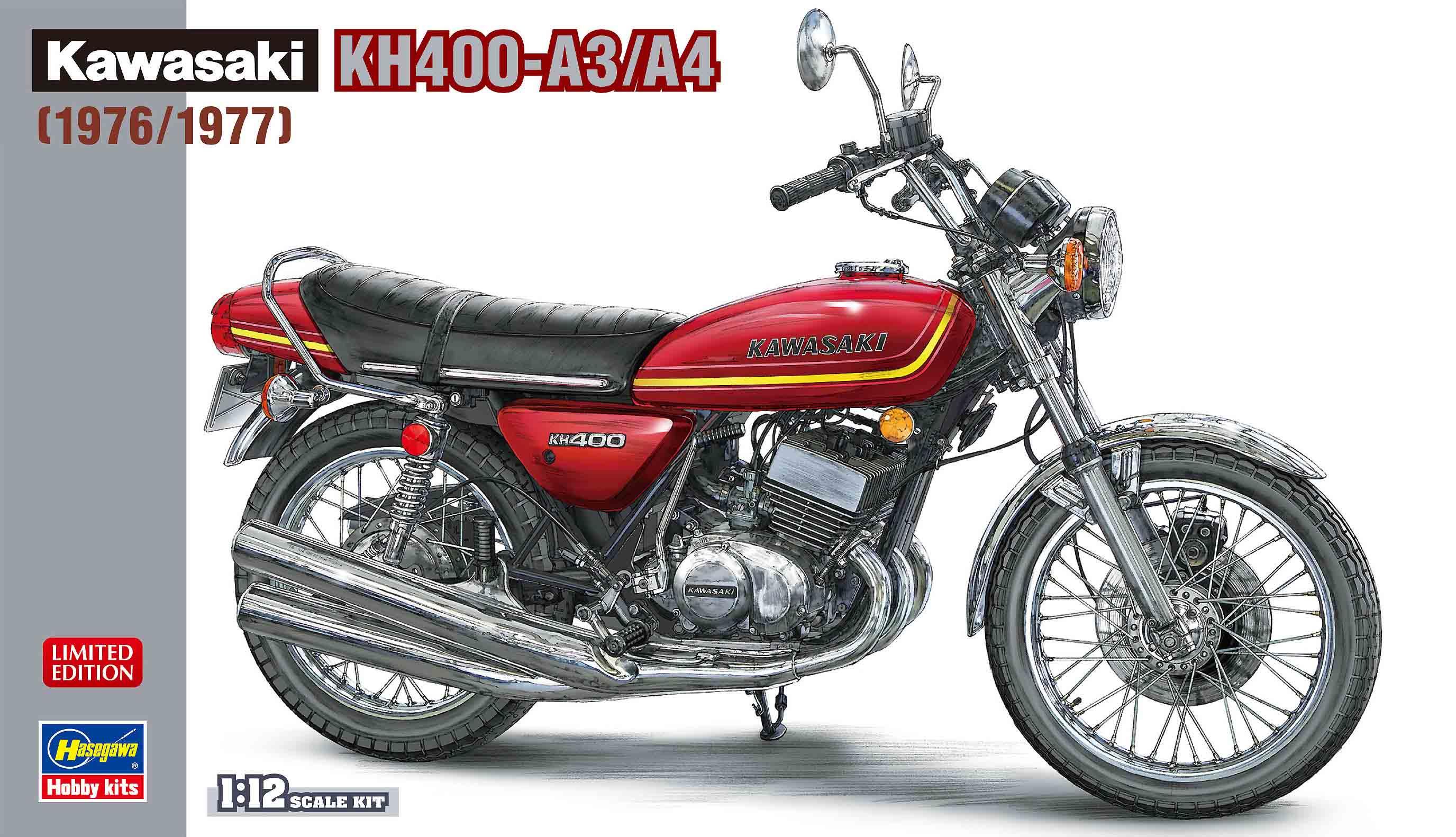 Hasegawa 1/12 Kawasaki KH400-A3/A4 1976 / 1977