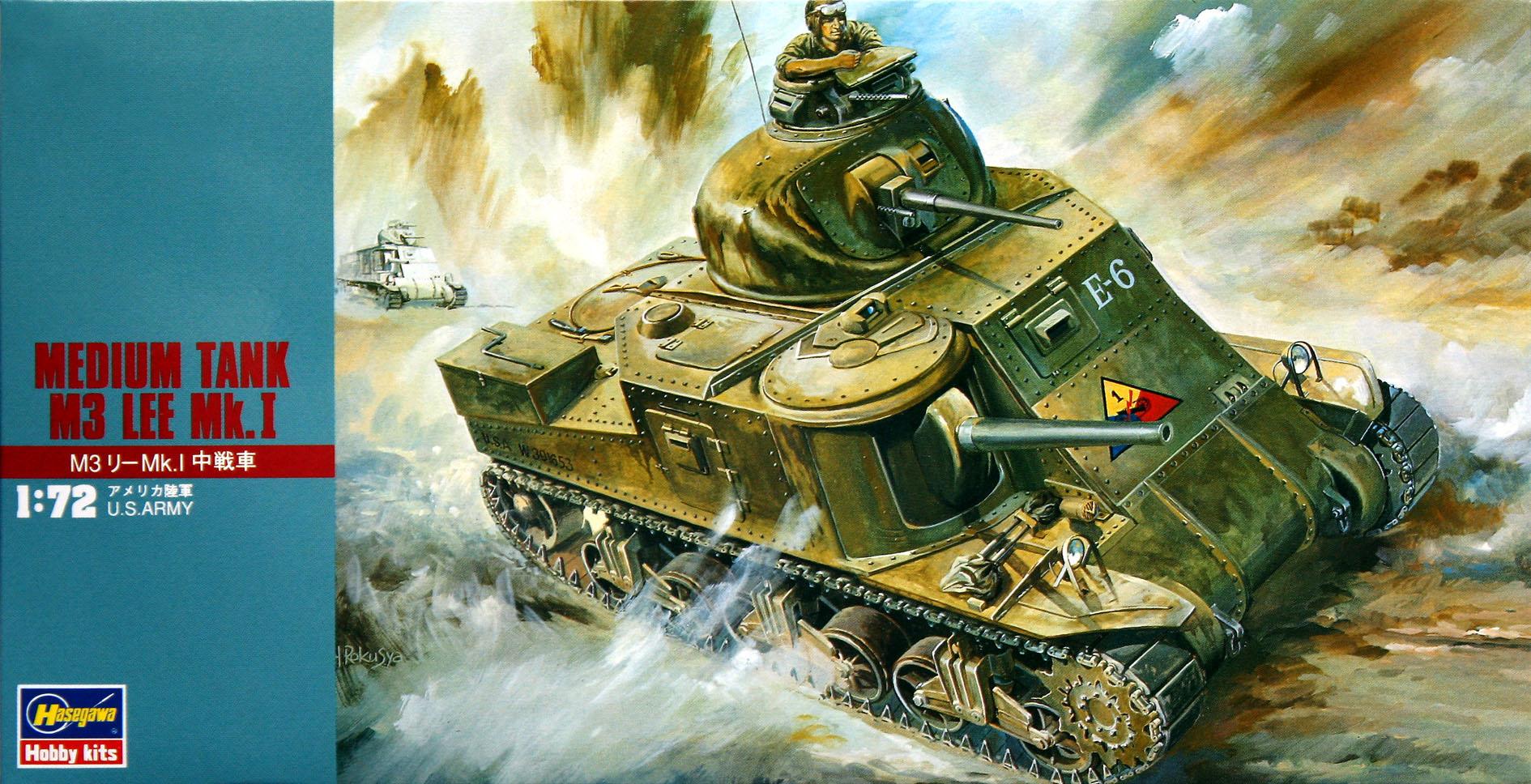 Hasegawa 1/72 Medium Tank M3 Lee Mk.I