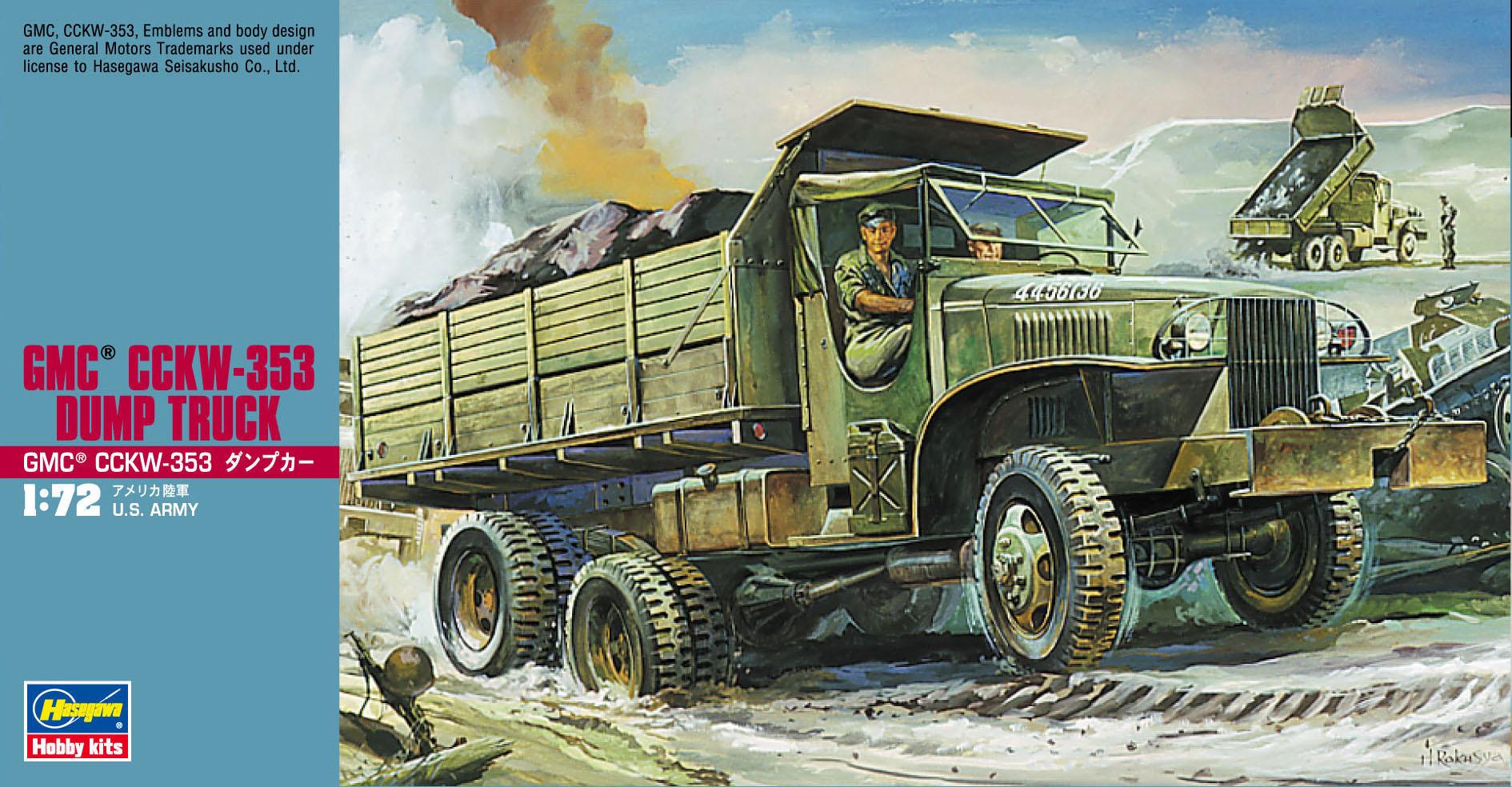 Hasegawa 1/72 GMC CCKW-353 Dump Truck
