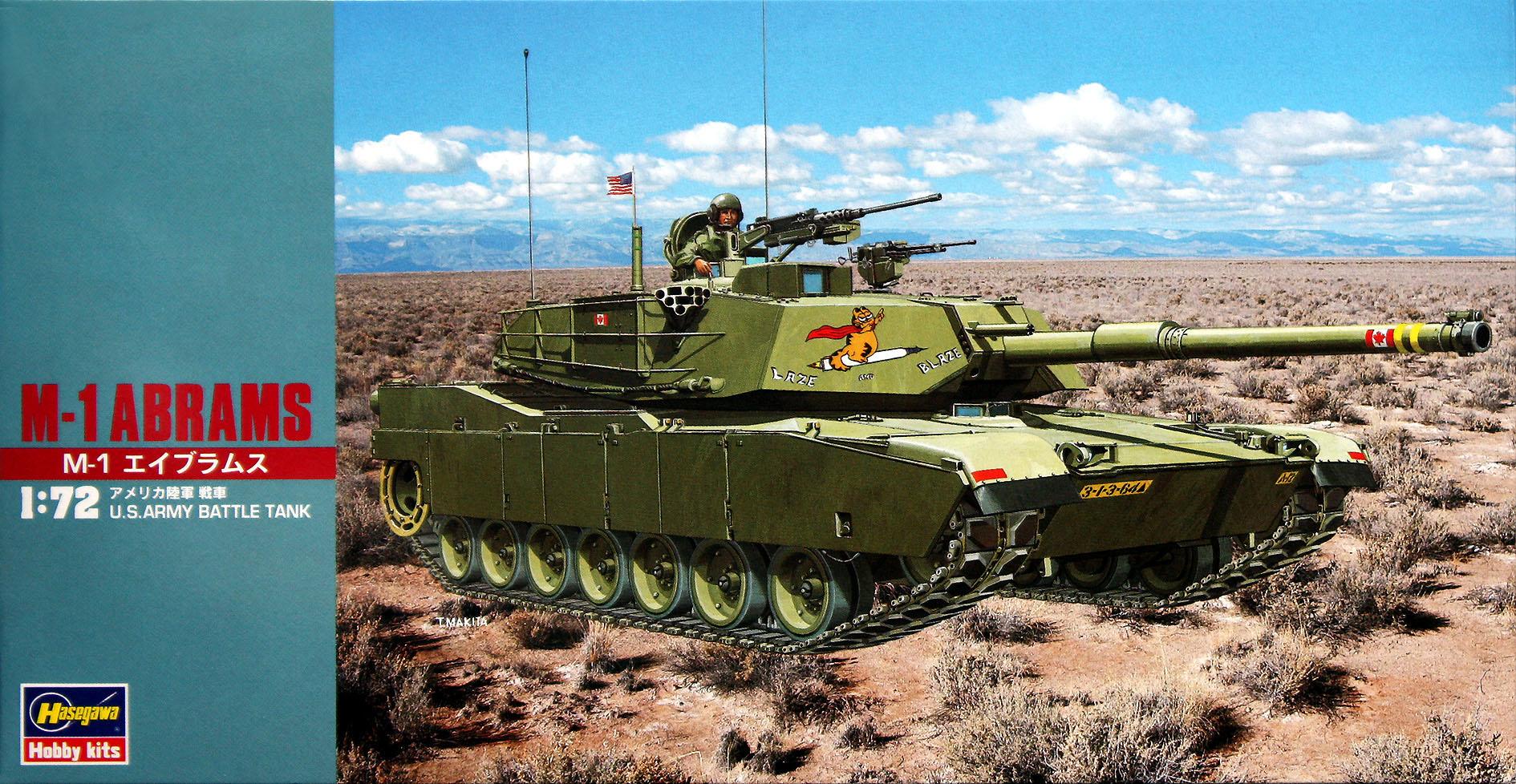 Hasegawa 1/72 M-1 Abrams