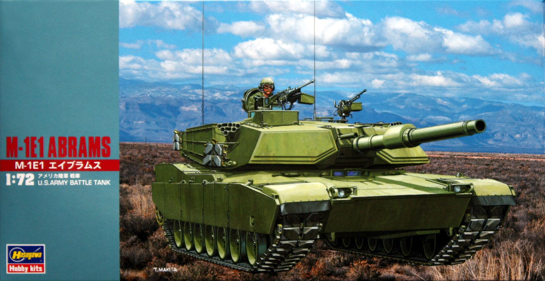 Hasegawa 1/72 M-1E1 Abrams