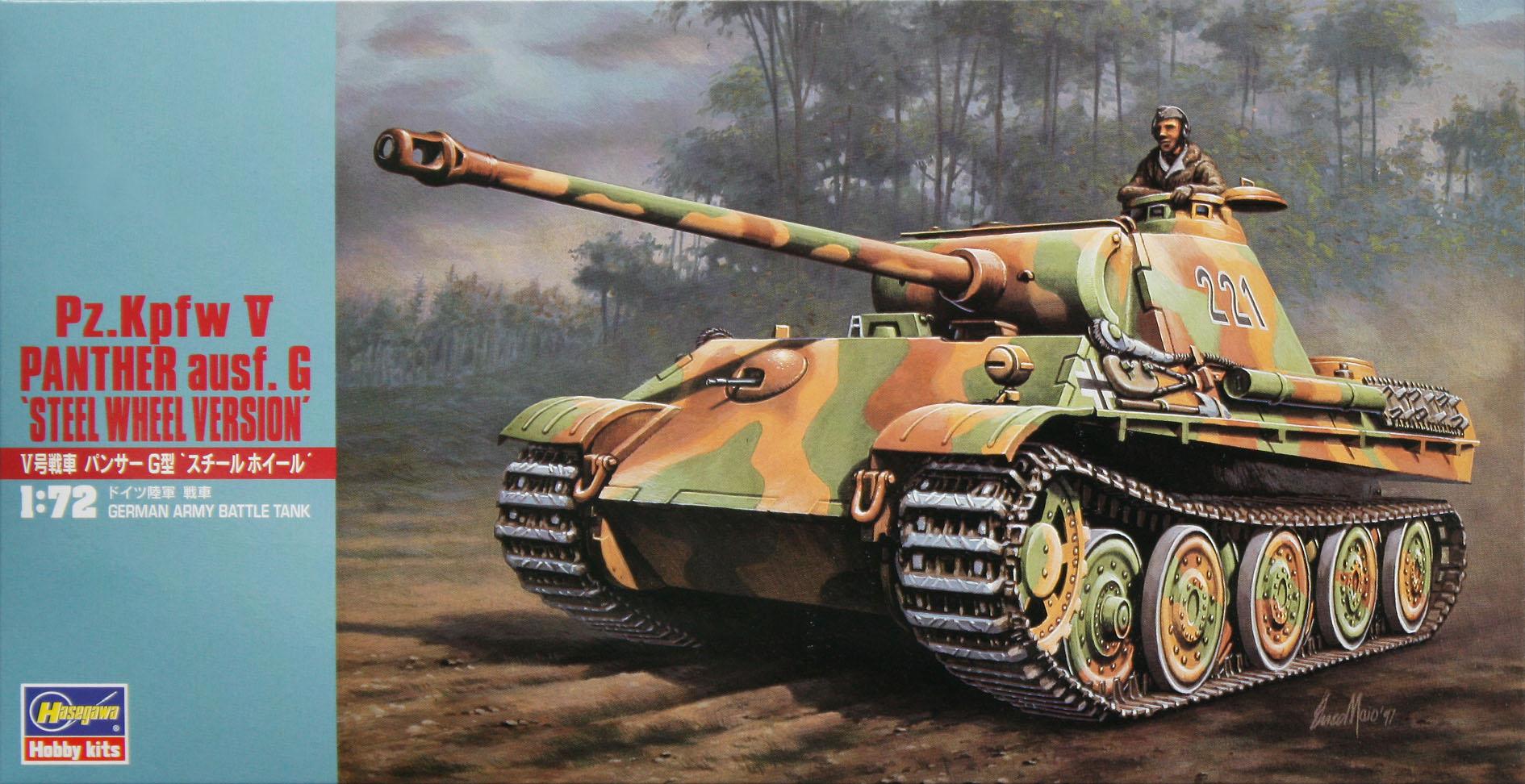 """Hasegawa Pz.Kpfw V Panther Ausf. G """"Steel Wheel Version"""""""