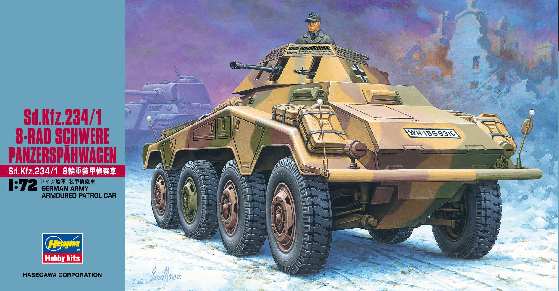 Hasegawa 1/72 Sd.Kfz.234/1 8-Rad Schwere Panzersp?hwagen