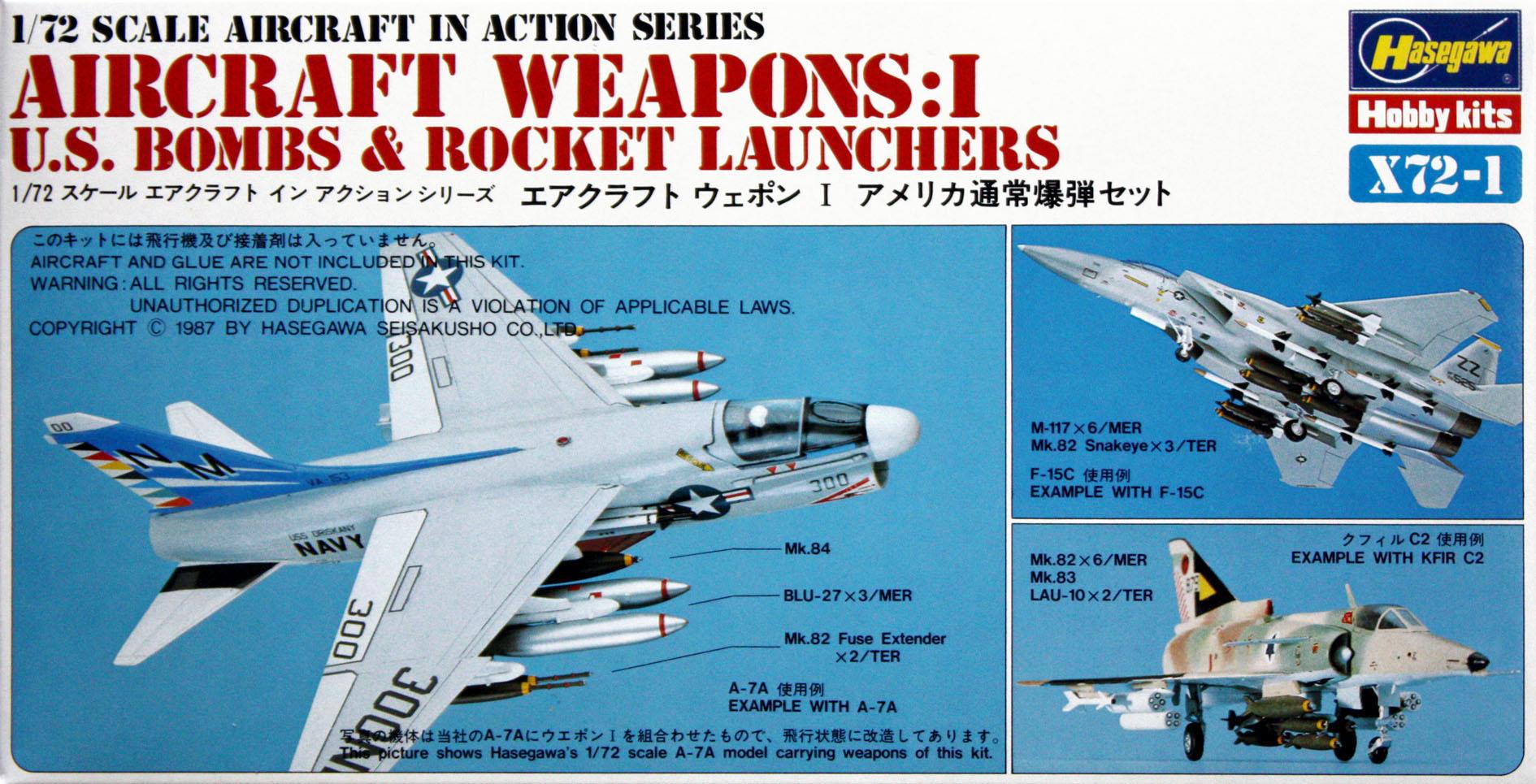 Hasegawa 1/72 US Aircraft Weapons I