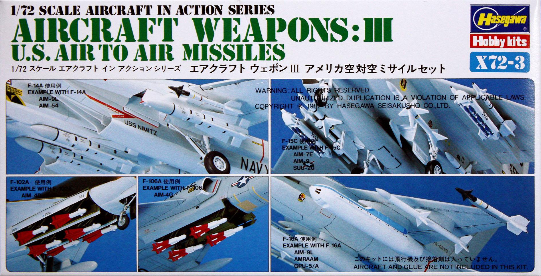 Hasegawa 1/72 US Aircraft Weapons III