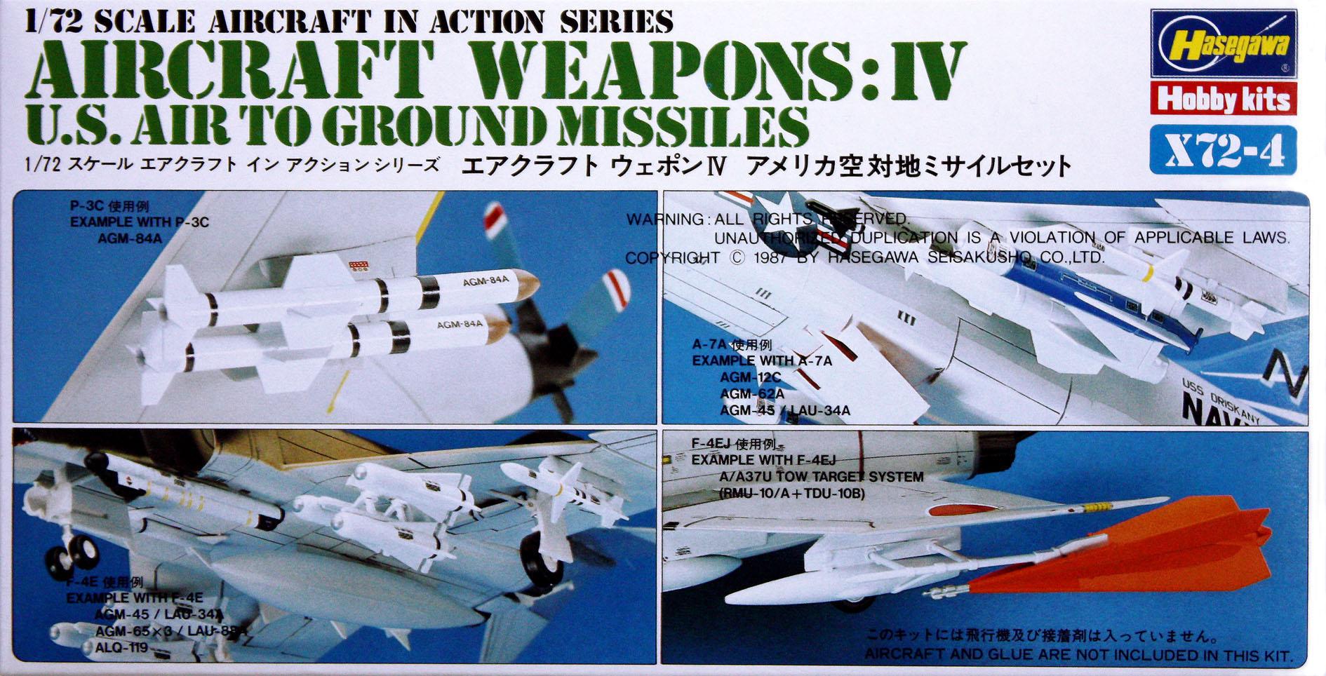 Hasegawa 1/72 US Aircraft Weapons IV