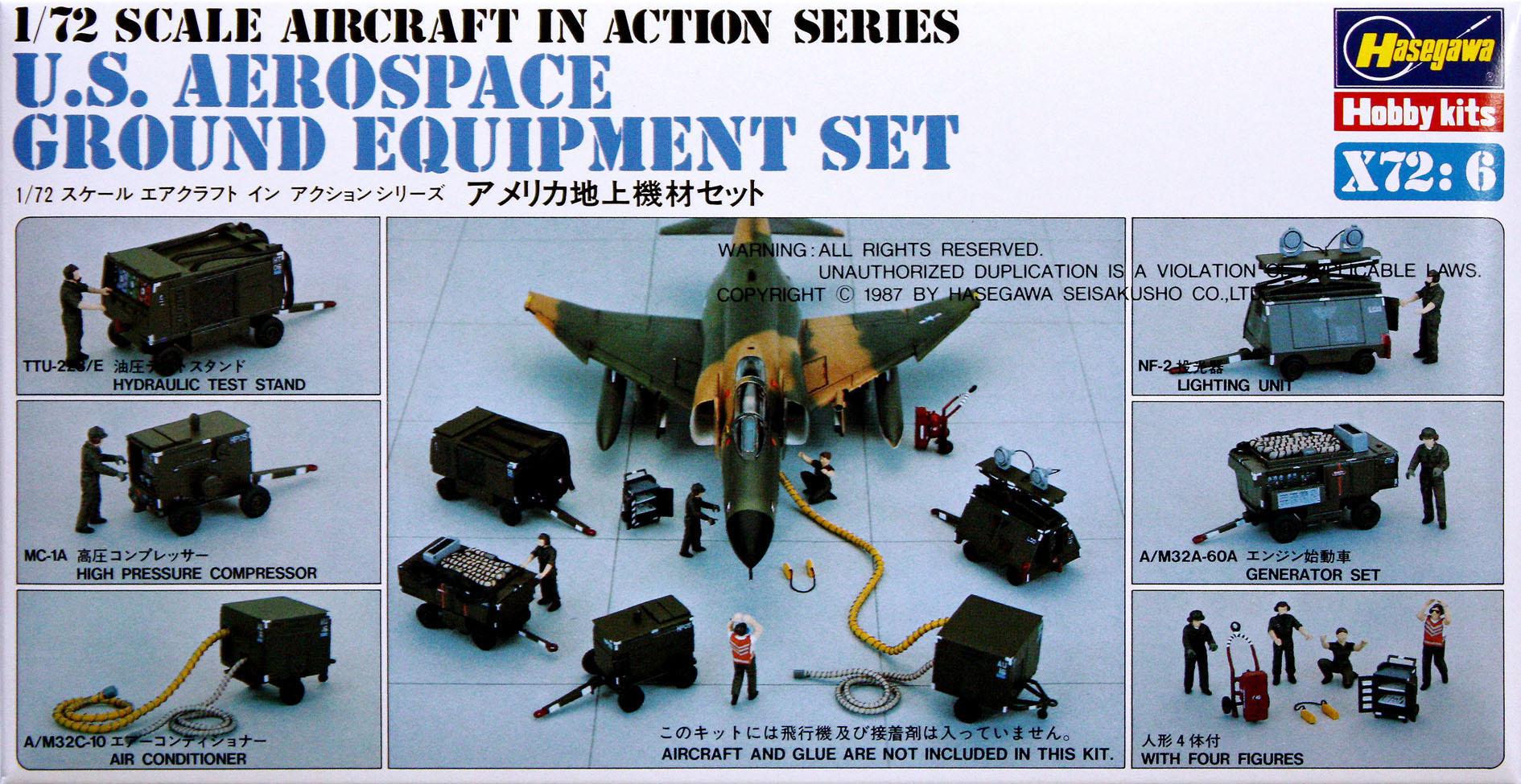 Hasegawa 1/72 Gound Equipment Set