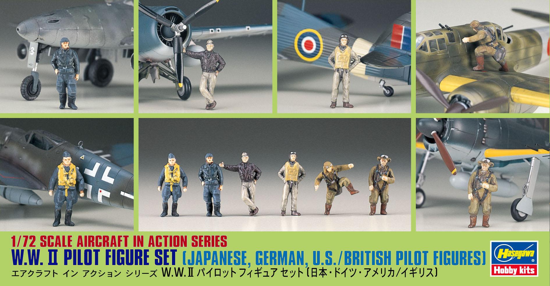 Hasegawa 1/72 WWII Pilot Figure Set