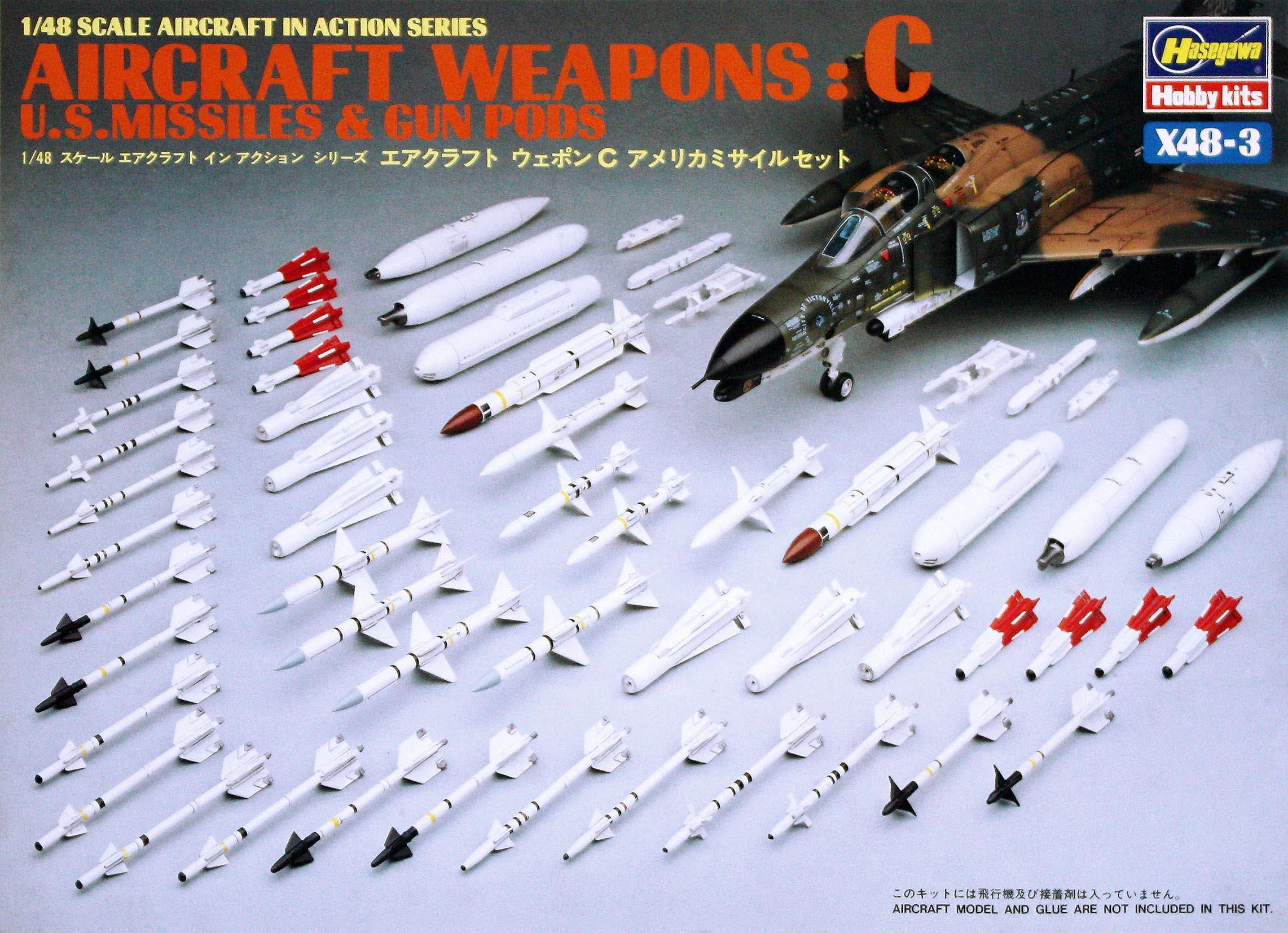 Hasegawa 1/48 US Aircraft Weapons C X48-3