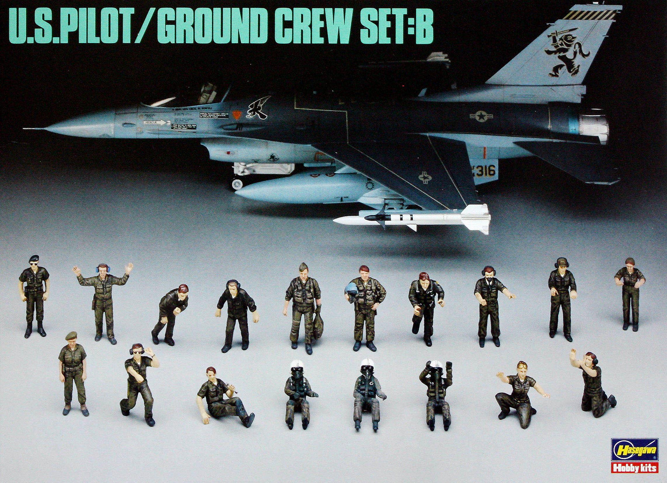 Hasegawa 1/48 U.S.Pilot & Grond Crew Set B