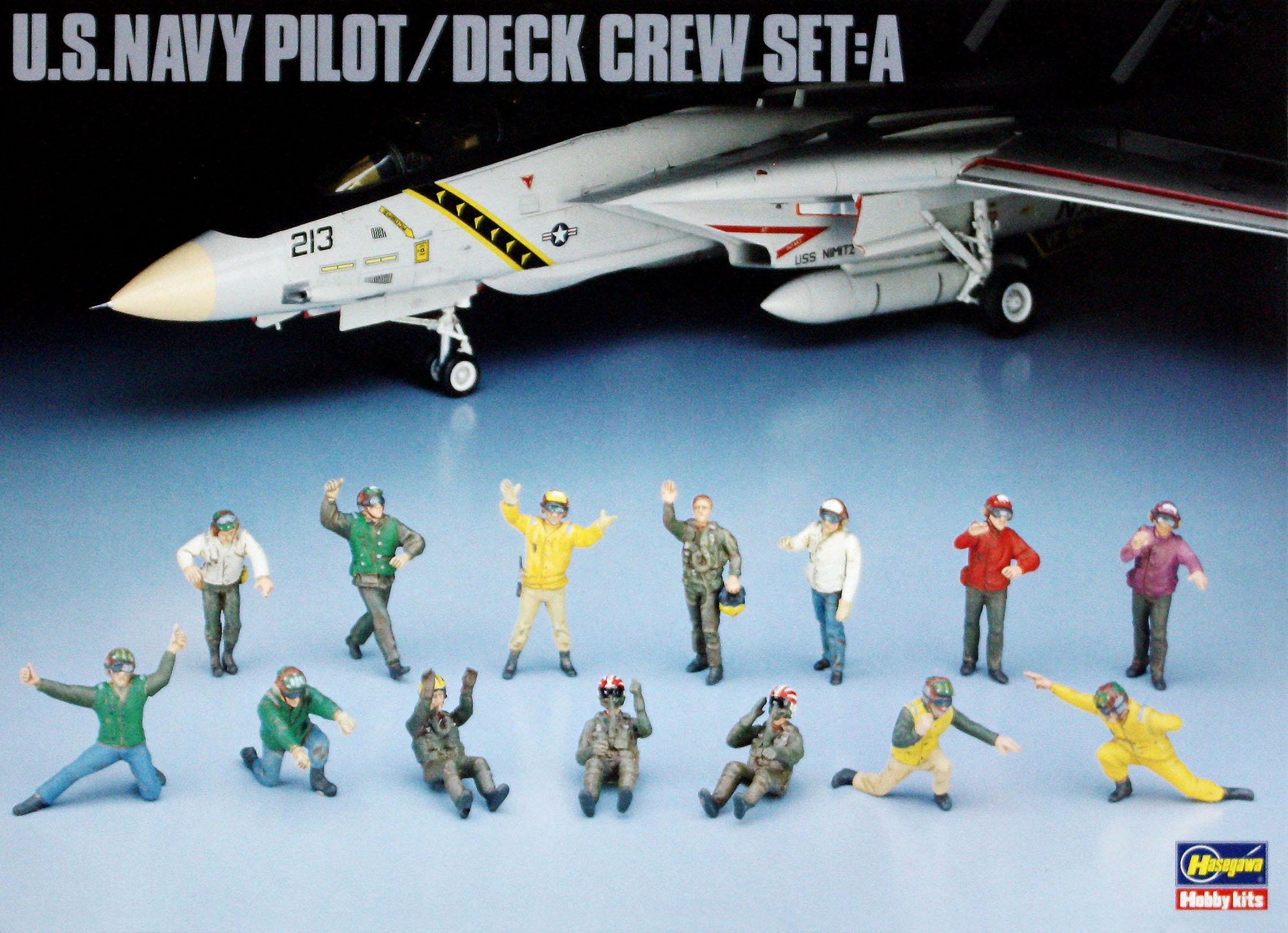Hasegawa 1/48 US Navy Pilot & Deck Crew Set A
