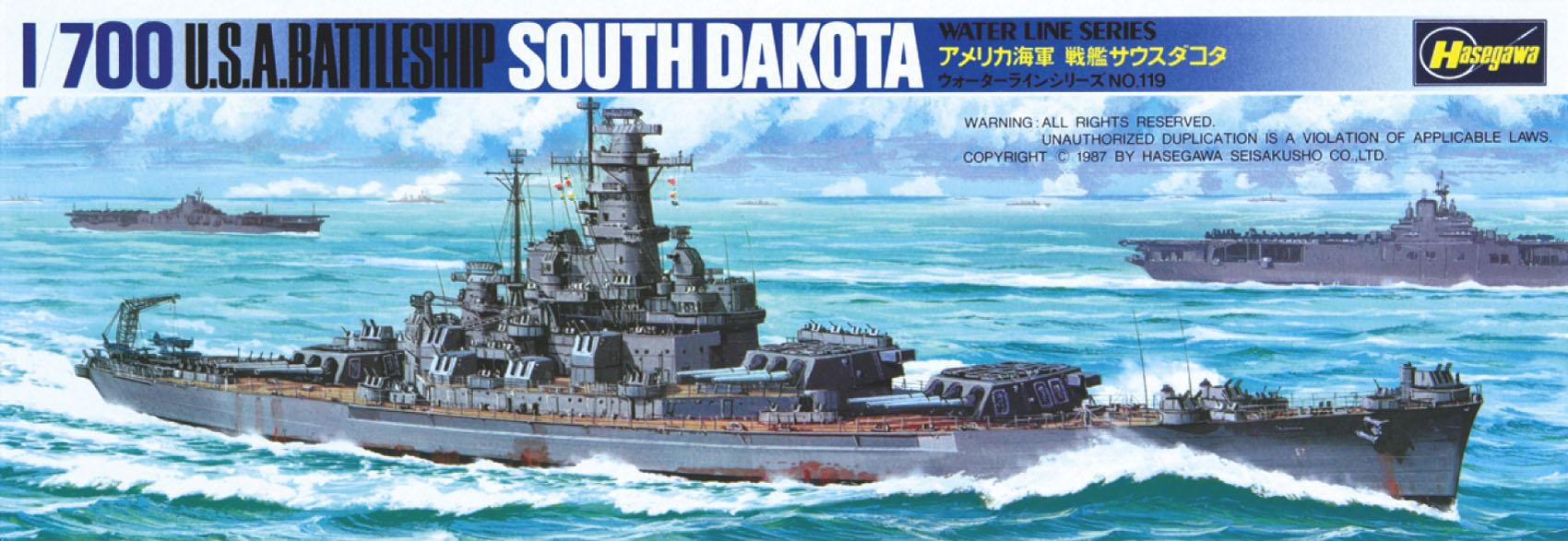 Hasegawa U.S. Battle Ship South Dakota