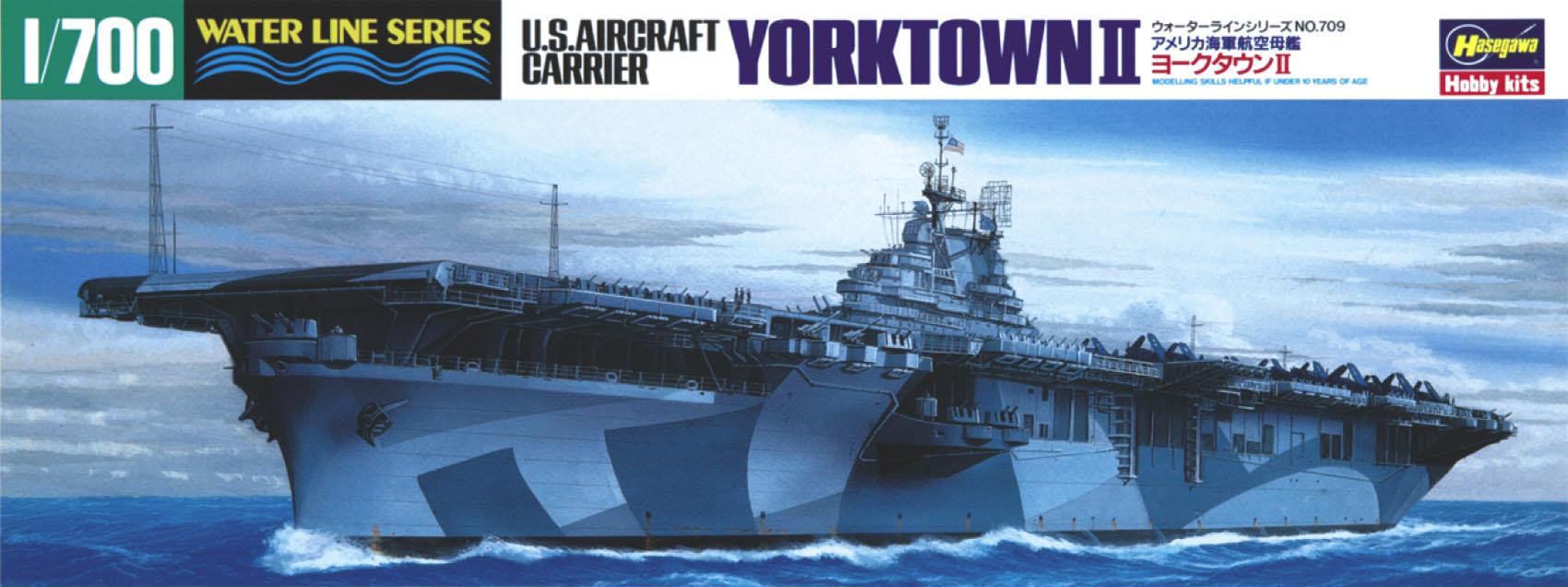 Hasegawa U.S. Aircraft Carrier Yorktown Ii