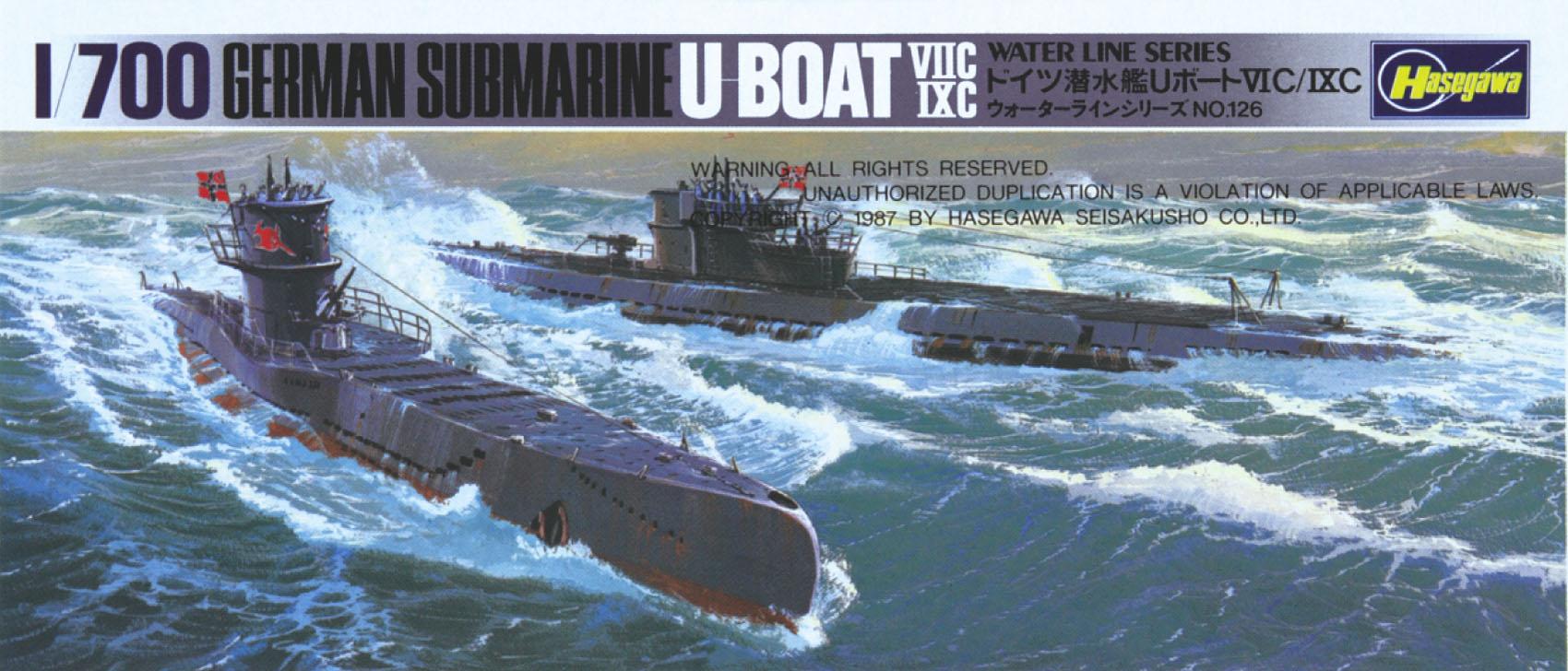 Hasegawa Submarine U Boat 7C/9C