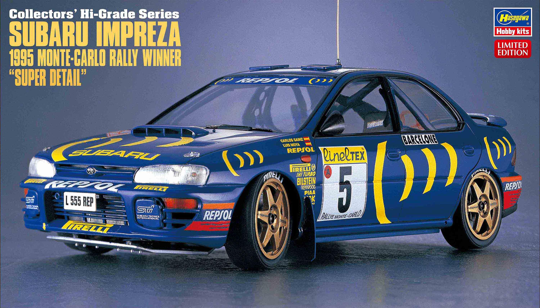 "Hasegawa 1/24 Subaru Impreza 1995 Monte-Carlo Rally Winner ""Super Detail"""