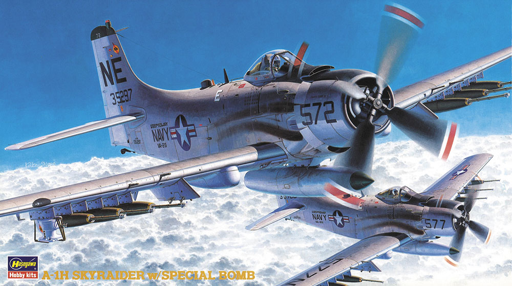Hasegawa 1/72 A-1H w/ Special Bomb BP104