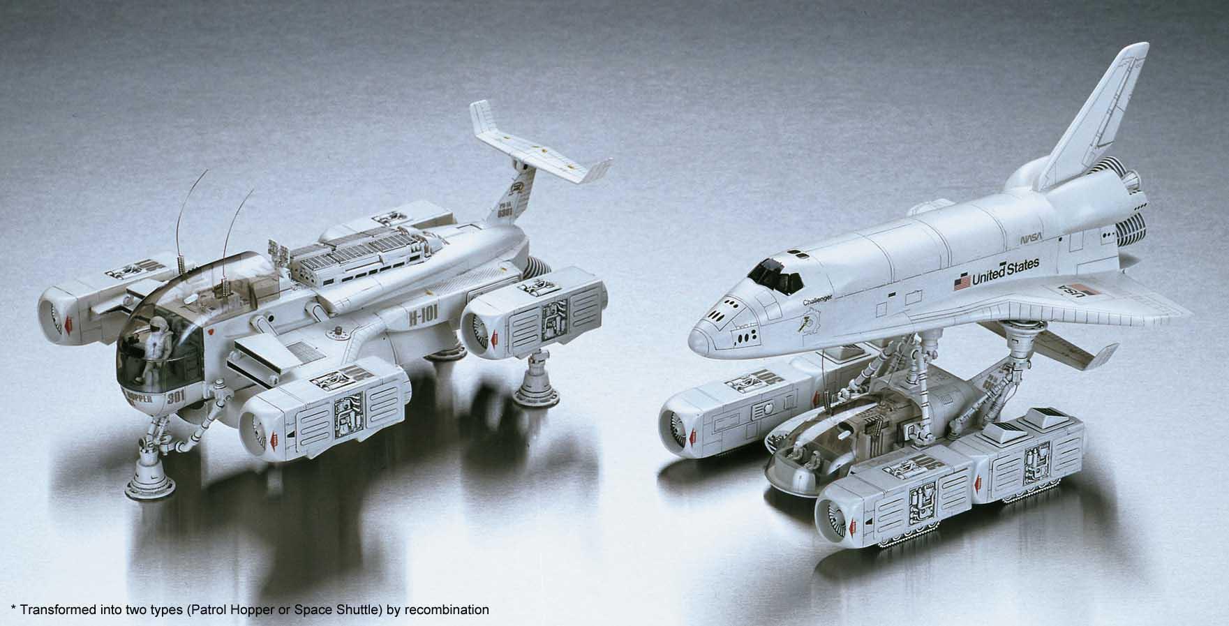 Hasegawa 1/48 Operation Omega Space Shuttle (1/144) / Patrol Hopper (1/48)