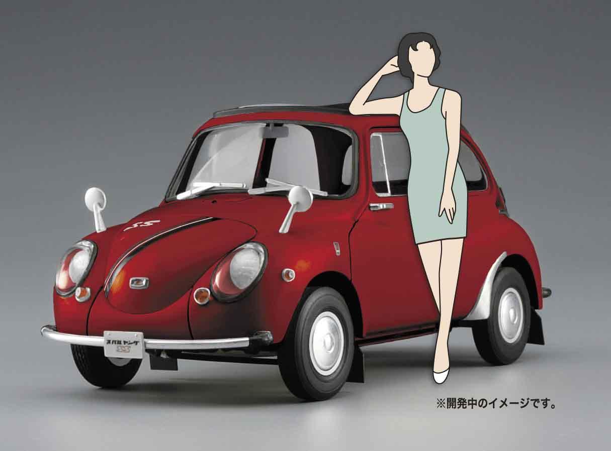 Hasegawa 1/24 Subaru 360 Young-SS W/60's Girl's Figure