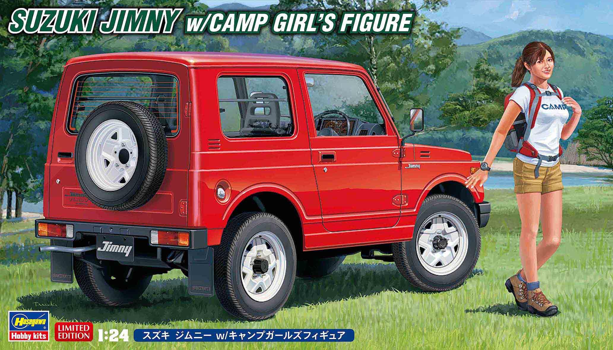 Hasegawa 1/24 Suzuki Jimny W/Camp Girl's Figure