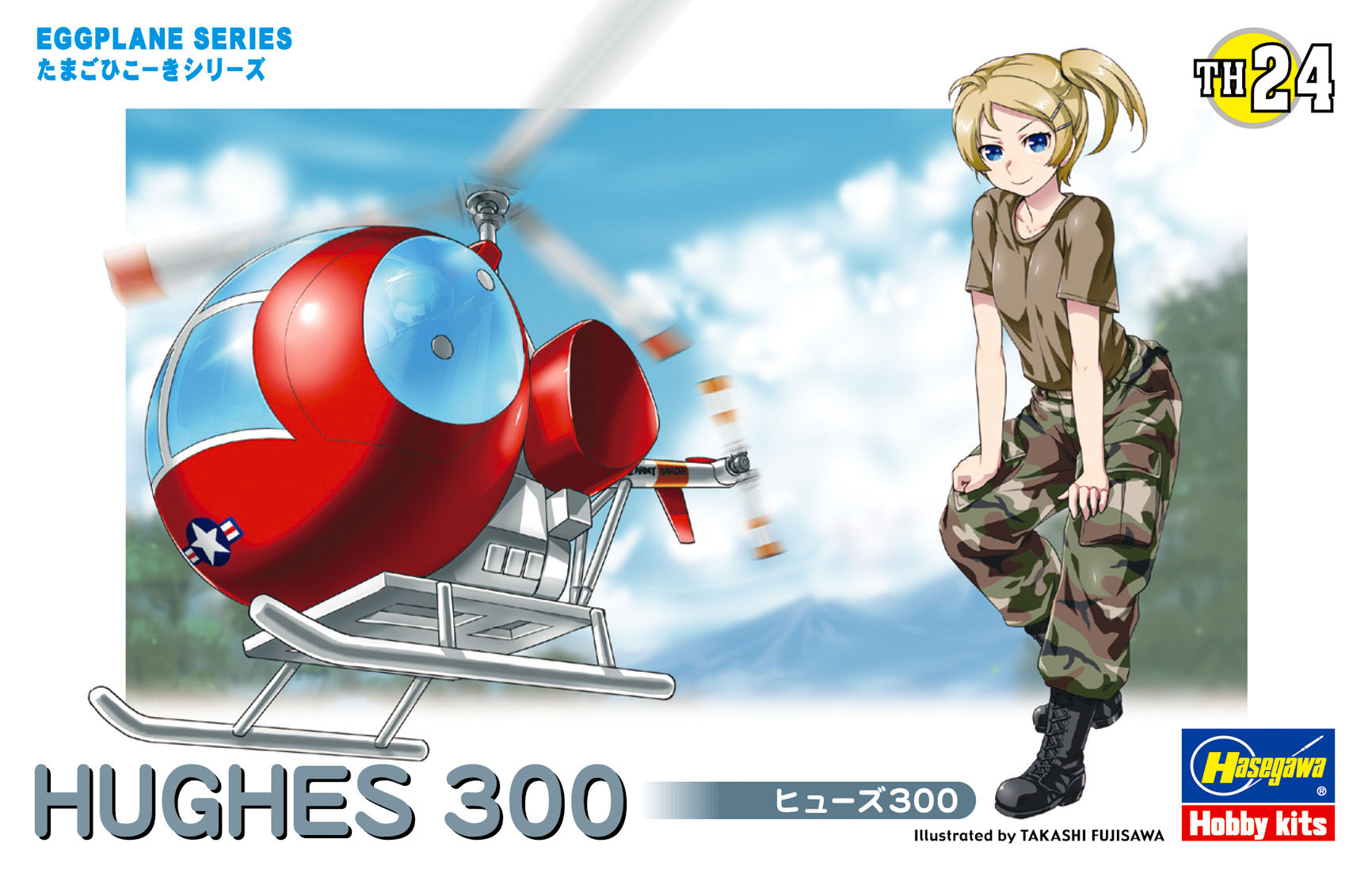 Hasegawa Egg Plane Hughes 300