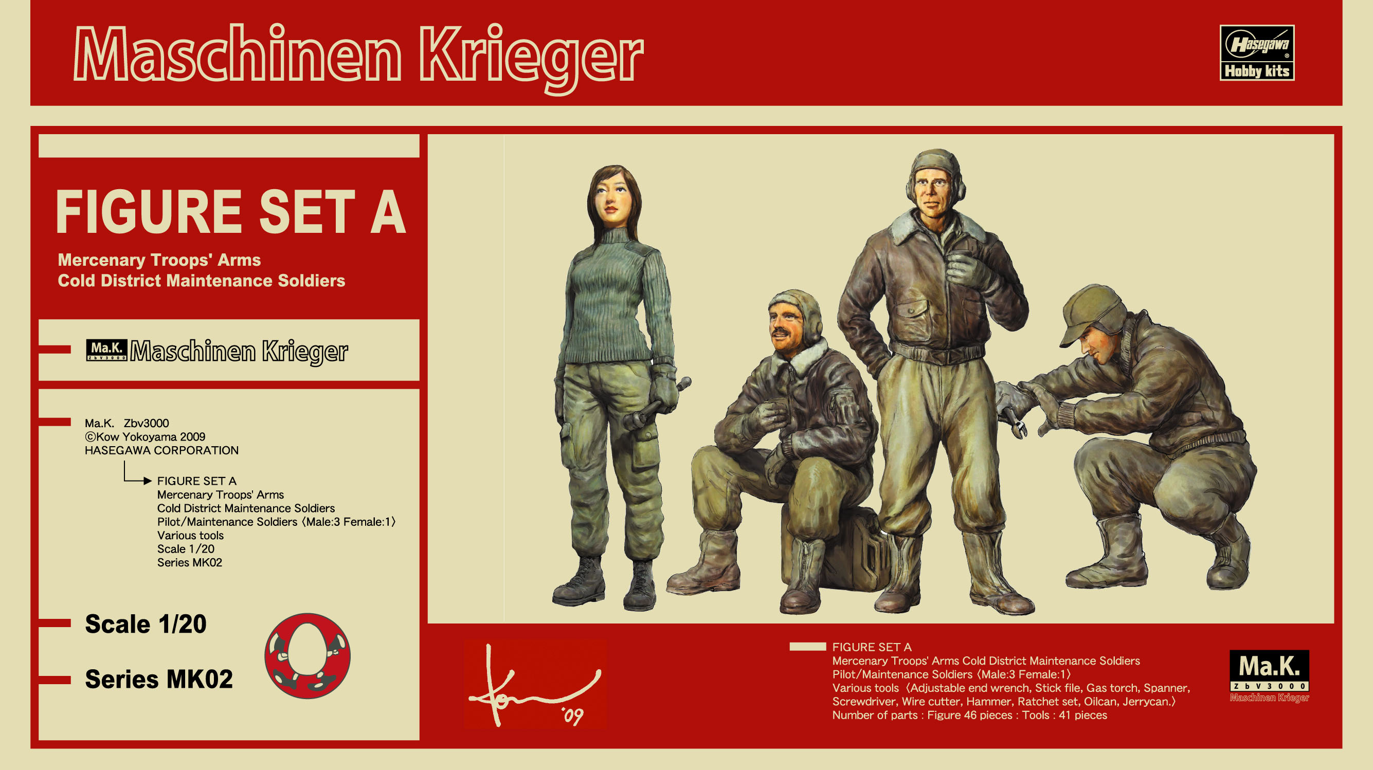 Hasegawa 1/20 Ma.K. Figure Set A (Mercenary Troops' Arms Cold District Maintenance Soldiers) MK02