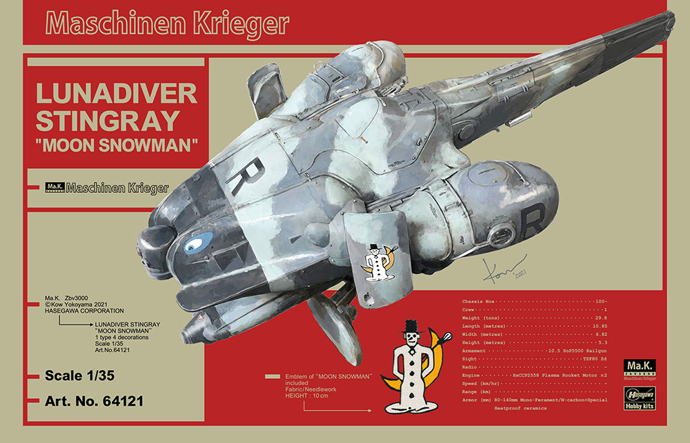 "Hasegawa 1/35 Lunadiver Stingray ""Moon Snowman"""