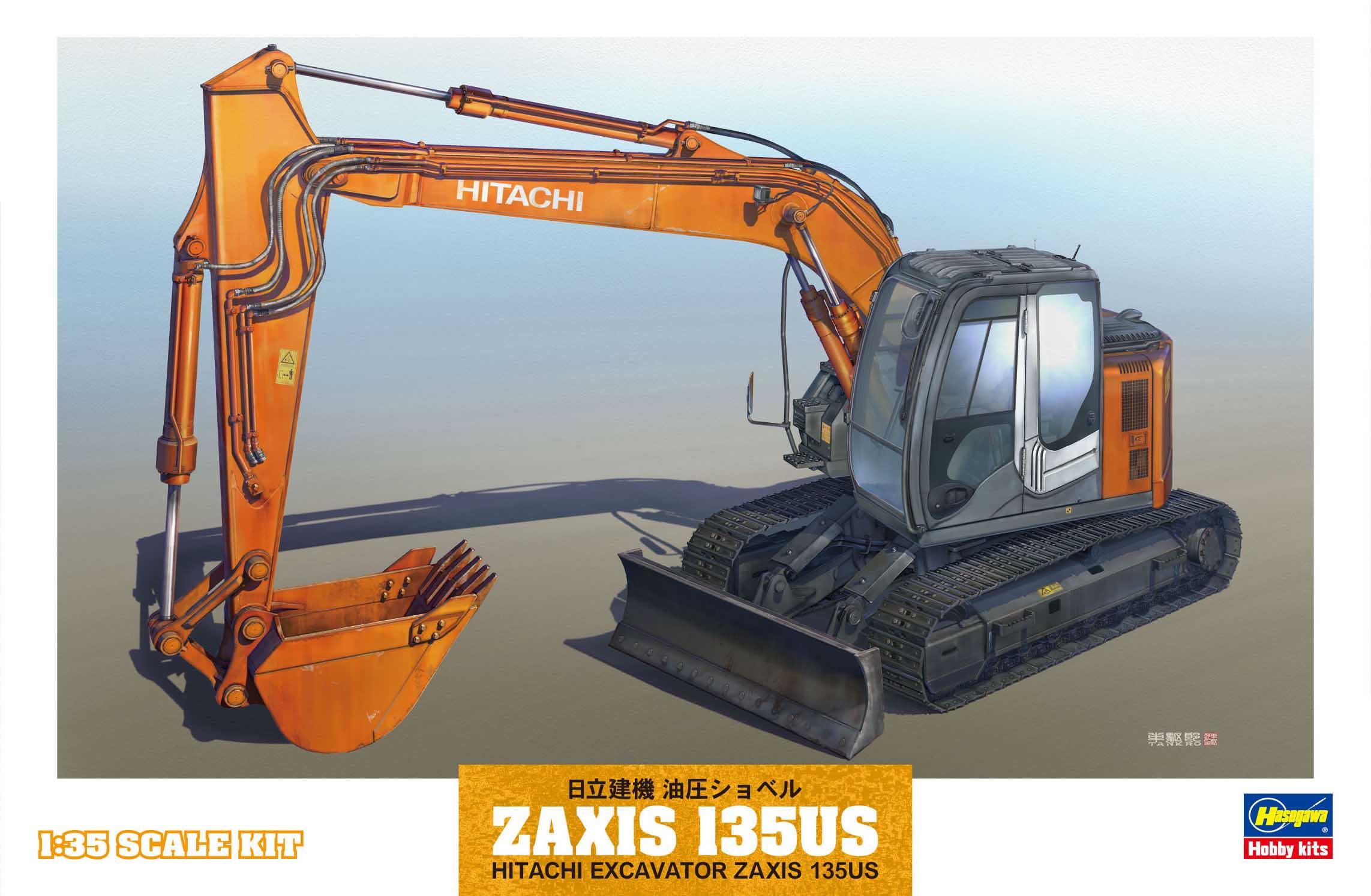Hasegawa 1/35 Hitachi Excavator Zaxis 135Us