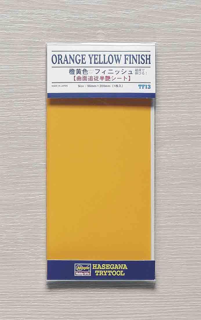"Hasegawa ""Orange Yellow Finish (Size: 90mm X 200mm)"""