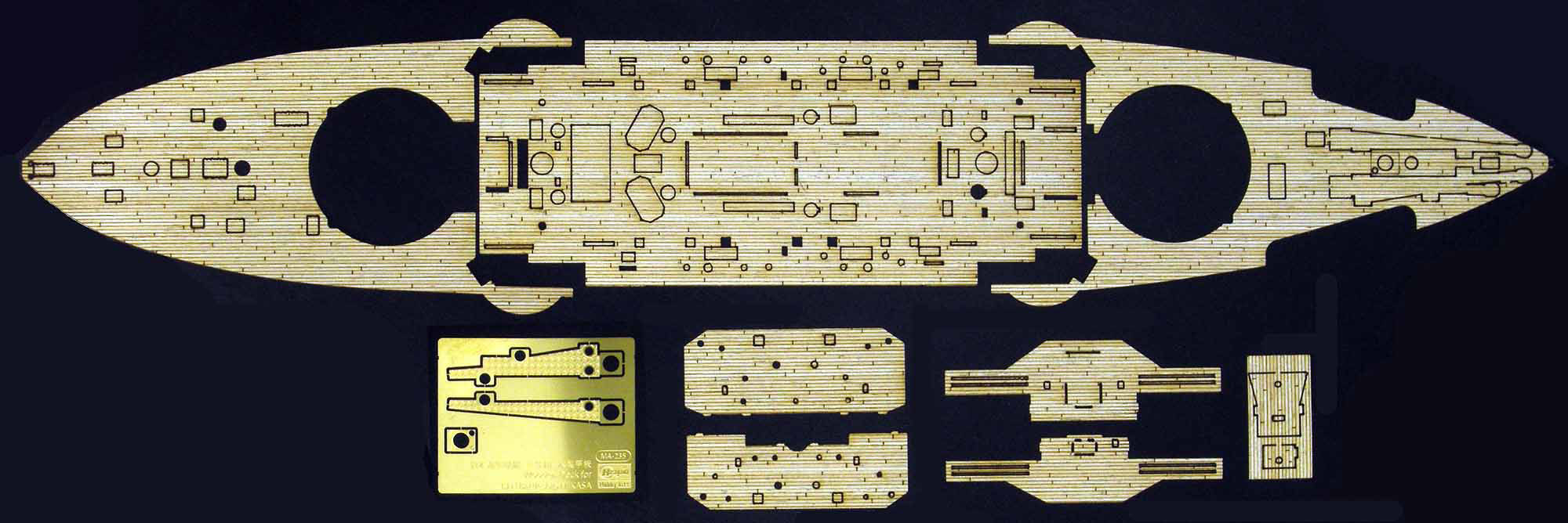 "Hasegawa Wooden Deck For Z21(40021-4) 1/350 Ijn Battleship Mikasa ""The Battle Of The Japan Sea"""