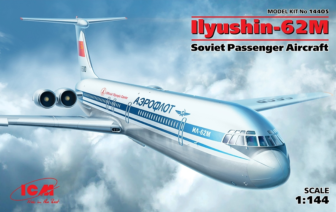 ICM 1/144 Ilyushin-62M, Soviet Passenger Aircraft